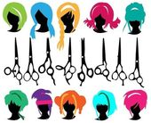 Hair symbols — Stock Vector