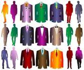 Silhouettes fashion men vector — Stock Vector