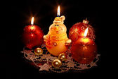 Snowball-candle — Stock Photo