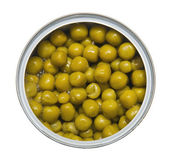 Tinned green peas — Stock Photo
