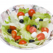 Salad with  Iceberg, olives, tomattos cherry and cheese Mozzarel — Stock Photo