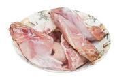 Legs of hare on the plate — Stock Photo