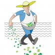 Stock Vector: Farmer