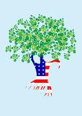 Money tree — Stock Vector
