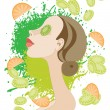 Moisturizing Mask - Stock Vector