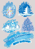 Set_christmas_trees — Stock Vector
