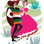 Mexican couple — Stock Vector #4937040