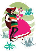 Mexican couple — Stock Vector