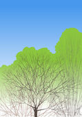 Alberi di primavera — Vettoriale Stock