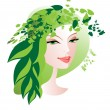Green hat - Stock Vector
