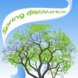 Spring discounts - Stock Vector