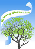 Spring discounts — Stock Vector