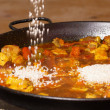 Cooking paella — Stock Photo