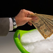 Stock Photo: Money laundering