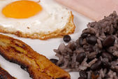 Gallo pinto breakfast — Stock Photo