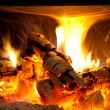 Foto Stock: Cosy fireplace