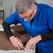 Leather manufacture — Stock Photo