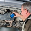 Stock Photo: Changing oil filter
