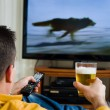 Watching television — Stock Photo