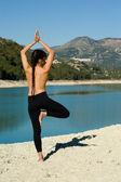 Yoga di mattina presto — Foto Stock