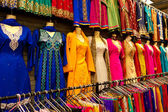Saris on street market — Stock Photo