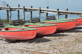 Canoes on the Shore — Stock Photo