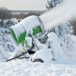 Snow Cannon In Action — Stock Photo #4433285