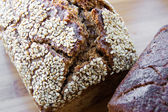 Loaf of bread with sesame — Stock Photo