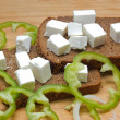Feta cheese cubes — Photo