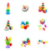 Coleção de brinquedos do bebê — Foto Stock