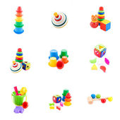 Collection of baby toys — 图库照片
