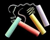 Colorful school chalk — Stock Photo