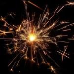 Golden sparkler — Stock Photo