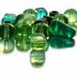 Green beads - Stock Photo