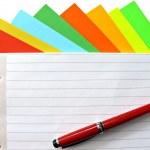 Copybook and pen — Stock Photo