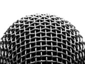 Silver microphone — Stock Photo