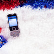 Sms to Santa — Stock Photo