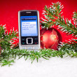 Stock Photo: Dear Santa sms