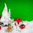 White santa toy — Foto Stock