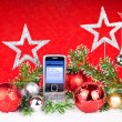 Stock Photo: Xmas decoration and message to santa