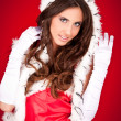 Sexy woman in santa clothes — Stock Photo #4080265