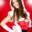 Stock Photo: Sexy girl in santa costume