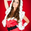 Sexy woman in santa costume — Stock Photo #4132004