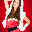 Sexy woman in santa costume — Stock Photo