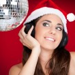 Santa girl on party — Stock Photo #4132256