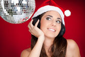 Santa girl on party — Stock Photo