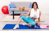 Home fitness — Stock Photo