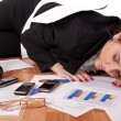 Overworked businesswoman — Foto de Stock