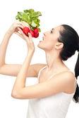 Jedzenie warzyw - koncepcja — Zdjęcie stockowe