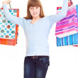 Happy, shopping teenager — Stock Photo